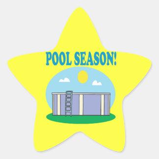 Estación de la piscina pegatina en forma de estrella