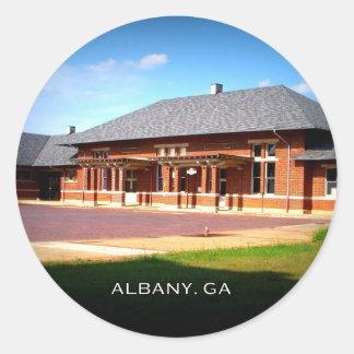 ESTACIÓN de la UNIÓN - Albany, Georgia Pegatina Redonda