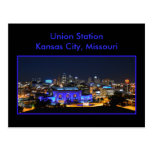 Estación de la unión de Kansas City en azul Postales