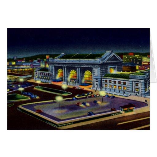 Estación de la unión de Kansas City Missouri en la Tarjeta De Felicitación
