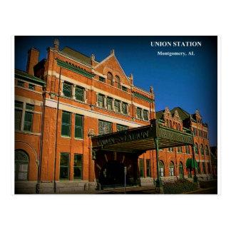ESTACIÓN de la UNIÓN - Montgomery, Alabama Tarjetas Postales