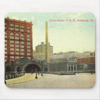Estación de la unión, vintage 1910 del PA de Pitts Tapetes De Raton