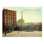Estación de la unión, vintage 1910 del PA de Pitts Tarjetas Postales