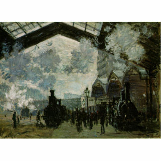 Estación de Lazare del santo de Claude Monet Esculturas Fotográficas