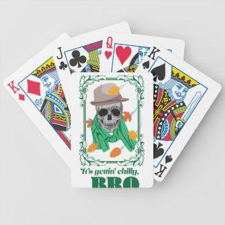 Estación de lluvias del otoño de la cabeza del baraja cartas de poker