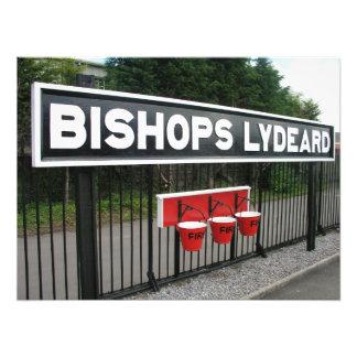 Estación de Lydeard de los obispos ferrocarril de Impresiones Fotográficas