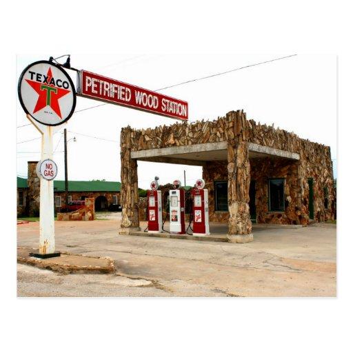 Estación de madera aterrorizada, Decatur, postal d