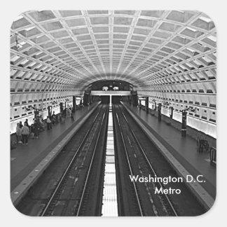 Estación de metro de Washington que mira los Pegatina Cuadrada