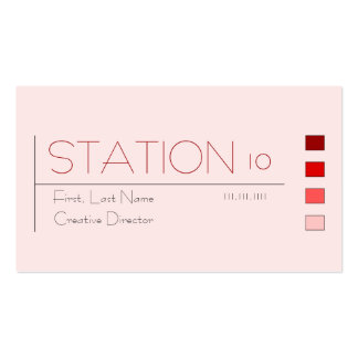 Estación de metro tarjetas de visita