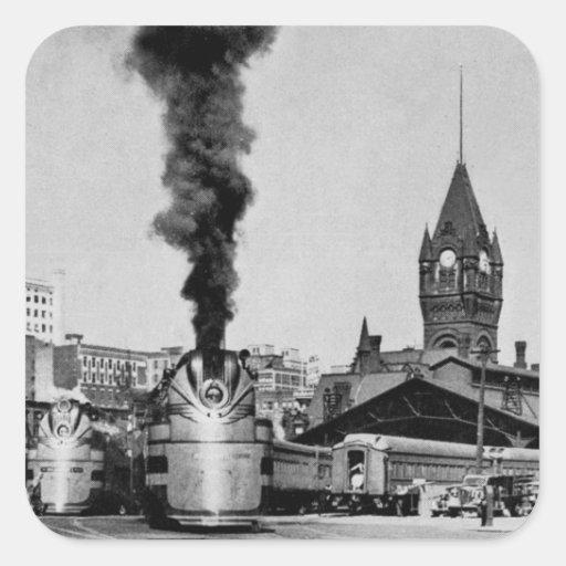 Estación de Milwaukee del ferrocarril de Milwaukee Pegatina Cuadrada