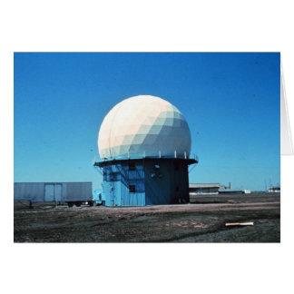 Estación de radar meteorológico de Doppler - norma Tarjeta De Felicitación