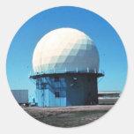 Estación de radar meteorológico de Doppler - Pegatinas Redondas