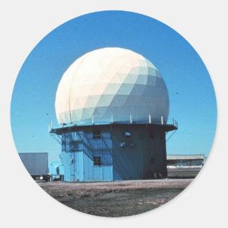 Estación de radar meteorológico de Doppler - Pegatina Redonda