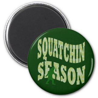 Estación de Squatchin Imán Redondo 5 Cm
