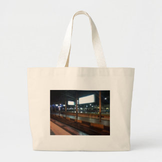estación de tren bolsa de tela grande