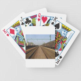 Estación de tren baraja cartas de poker