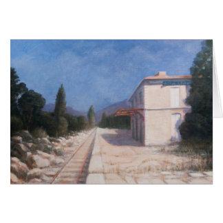 Estación de tren Châteauneuf 2012 Tarjeta De Felicitación
