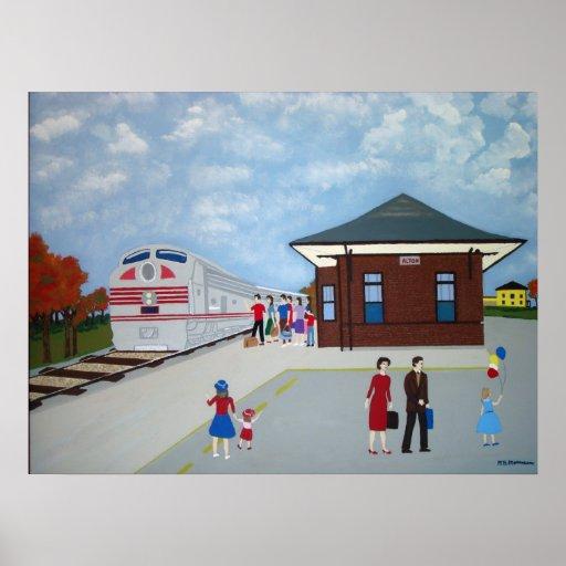 Estación de tren de Alton Póster