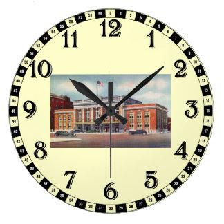 Estación de tren de Atlantic City PRSL 1936 Reloj De Pared