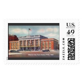 Estación de tren de Atlantic City PRSL 1936 Sello