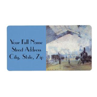 Estación de tren de Claude Monet Etiquetas De Envío