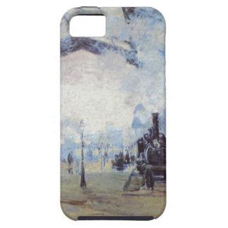 Estación de tren de Claude Monet iPhone 5 Case-Mate Cobertura