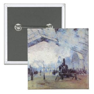 Estación de tren de Claude Monet Pin