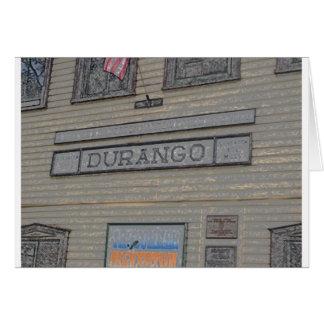 Estación de tren de Durango Tarjeta De Felicitación