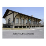 Estación de tren de Kutztown Tarjeta Postal