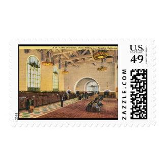 Estación de tren de la unión, vintage de Los Sellos Postales