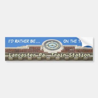 ¡Estación de tren de Lancaster! ¡Pegatina para el Pegatina Para Auto