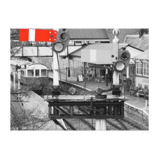 Estación de tren de Llangollen Lona Estirada Galerías