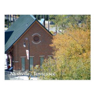 Estación de tren de Nashville en la orilla del río Tarjeta Postal
