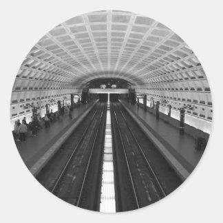 Estación de tren de Washington DC Pegatina Redonda
