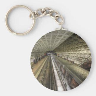 Estación de tren del metro del Washington DC Llavero Personalizado