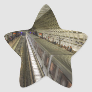 Estación de tren del metro del Washington DC Pegatina En Forma De Estrella