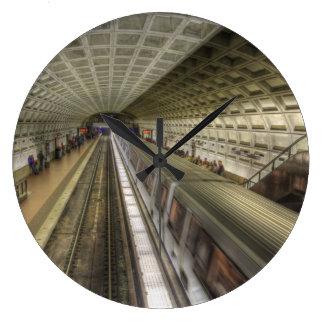 Estación de tren del metro del Washington DC Reloj Redondo Grande