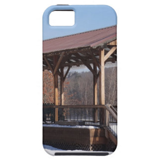 Estación de tren nevada de Hawley iPhone 5 Fundas