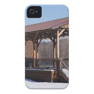 Estación de tren nevada de Hawley Case-Mate iPhone 4 Coberturas