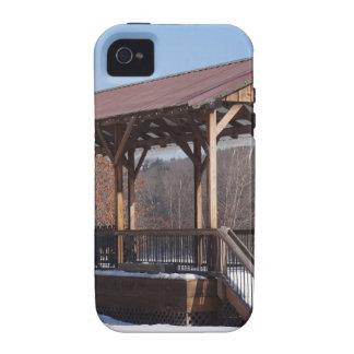 Estación de tren nevada de Hawley iPhone 4/4S Funda
