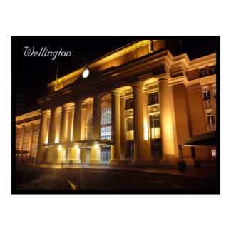 estación de Wellington Tarjeta Postal