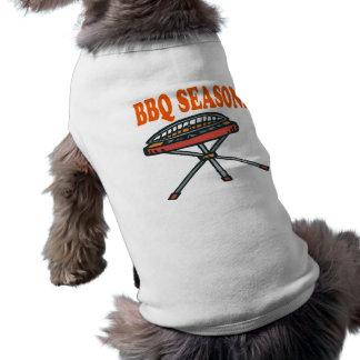 Estación del Bbq Camisetas Mascota