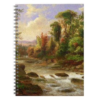 Estación del destino del bosque de la naturaleza d notebook