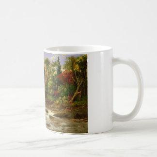 Estación del destino del bosque de la naturaleza taza de café