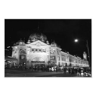 Estación del Flinders Melbourne - impresión 12 x Foto