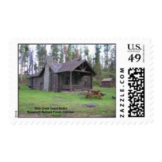Estación del guardia de la cala del trozo sellos postales