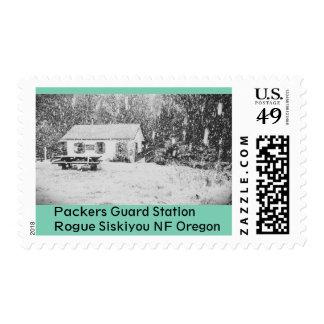 Estación del guardia de los embaladores envio