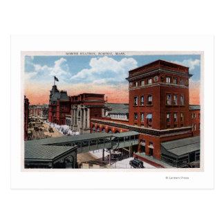 Estación del norte - depósito del ferrocarril tarjetas postales