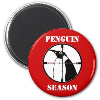 Estación del pingüino imán redondo 5 cm