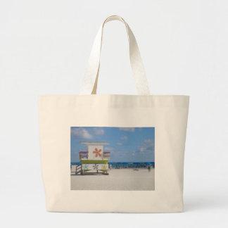 Estación del salvavidas de Miami Beach Bolsa Tela Grande